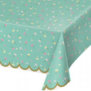 Floral Plastic Tablecover