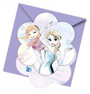 Frozen Sparkle Party Invitations 6/pcs