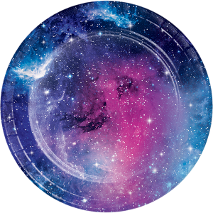 Γαλαξίας Μικρά Χάρτινα Πιάτα 8/Τμχ