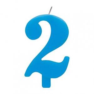 Γαλάζιο Κερί 2 Αριθμός Δύο Για Τούρτα