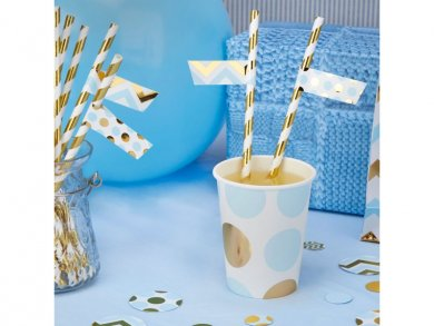 Blue and Gold Straw Flags (30pcs)