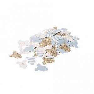 Γαλάζιο & Χρυσό Γκλίτερ Ρουχαλάκια Κομφετί (100τμχ)
