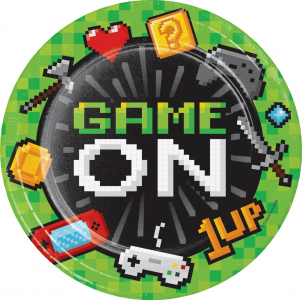 Gaming Party Large Paper Plates (8pcs)