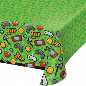 Gaming Party Plastic Tablecover (137cm x 259cm)