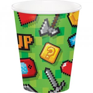 Gaming Party Paper Cups (8pcs)