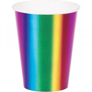 Rainbow Birthday Paper Cups 8/pcs