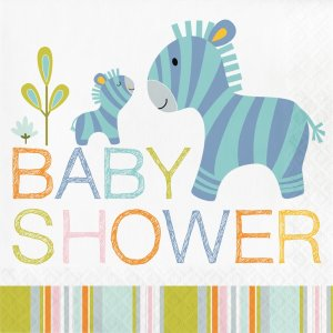 Happy Jungle Animals Baby Shower luncheon napkins (16pcs)