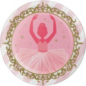 Ballet large paper plates 8/pcs