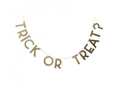 Χρυσή Γιρλάντα Γράμματα Trick or Treat 2μ