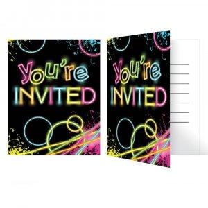 Glow Party Προσκλήσεις 8/Τμχ