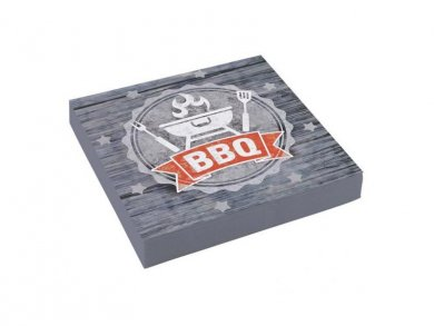 Grey Barbeque Luncheon Napkins (20pcs)