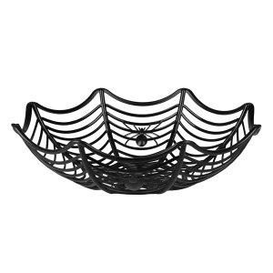 Black spider web bowl