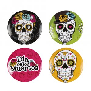 Day of the Dead Buttons 4/pcs