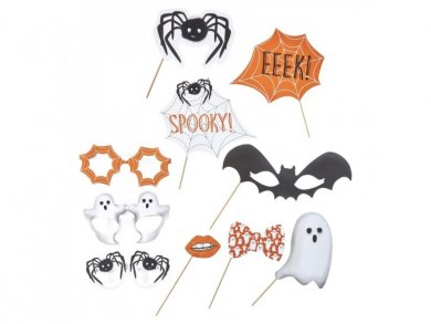 Halloween Spooky Spider Photobooth Props (10τμχ)