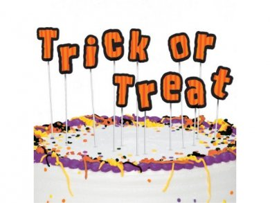 Trick or Treat letter cake toppers