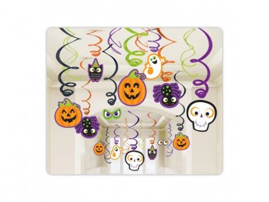 Scary Creatures Hanging Swirl Decorations (30pcs)