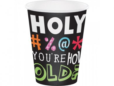 Holy Bleep large paper cups 8/pcs