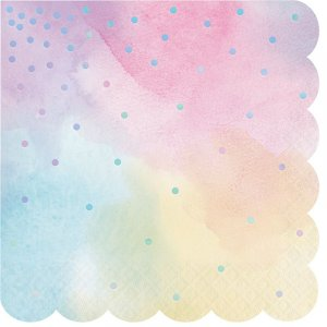 Iridescent Dots Luncheon Napkins in Pastel Colors 16/pcs