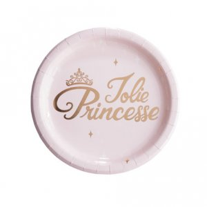 Jolie Princesse Ροζ Μεγάλα Χάρτινα Πιάτα (8τμχ)