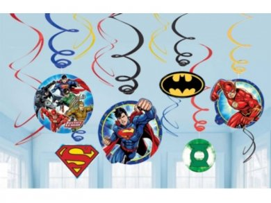 Justice League Party Swirl decoration 12/pcs