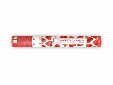 Confetti Cannon with Red Hearts (40cm)