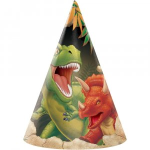 Dinosaures Party Hats 8/pcs