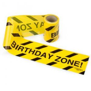 Birthday Zone Yellow Tape