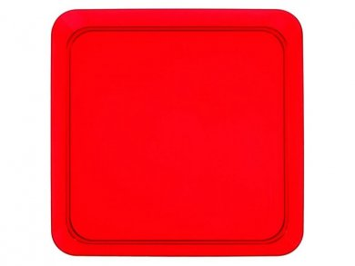 Red Small Square Plastic Plates (8pcs)