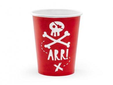 Κόκκινος Πειρατής Χάρτινα Ποτήρια 6τμχ