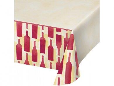Wine Plastic Tablecover (137cm x 259cm)