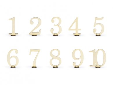 Wooden Table Numbers 10/pcs
