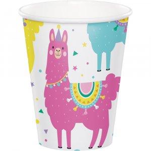 Llama Party Paper Cups 8/pcs