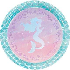 Mermaid Shine Large Paper Plates 8/pcs
