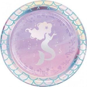 Mermaid Shine Small Paper Plates 8/pcs