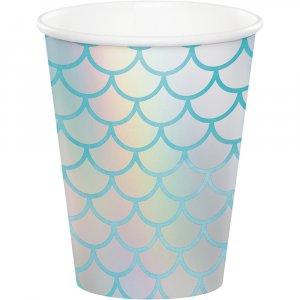 Mermaid Shine Paper Cups 8/pcs