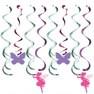 Fairy Sparkle Hanging Spiral Decorations