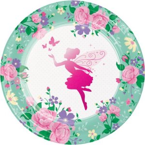 Fairy Sparkle Large Paper Plates 8/pcs