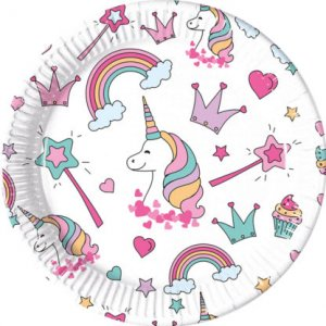 Magic Party Large Paper Plates 8/pcs