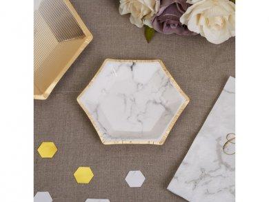 Scripted Marble Mini Paper Plates (8pcs)