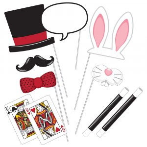 Magic party photobooth props 10/pcs