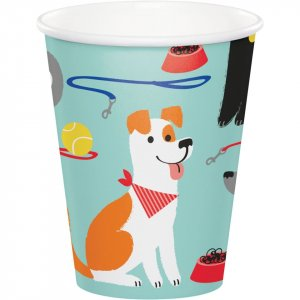 Dog Party Paper Cups 8/pcs