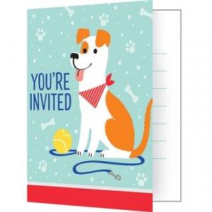 Πάρτυ Με Σκύλους Προσκλήσεις (8τμχ)