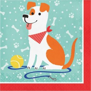 Dog Party Luncheon Napkins 16/pcs