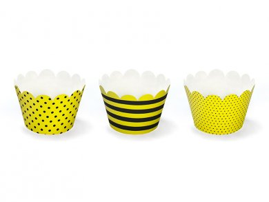 Bee cupcake wrappers (6pcs)