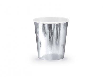 Metallic Silver Paper Cups 6/pcs