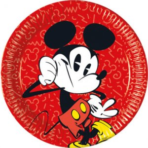Mickey Super Cool Large Paper Plates (8pcs)