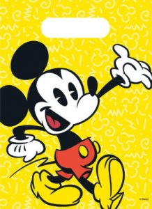 Mickey Super Cool Plastic Party Bags 6/pcs