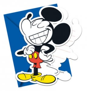 Mickey Super Cool Party Invitations (6pcs)