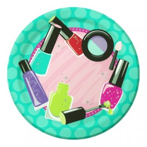 Spa party small paper plates 8/pcs