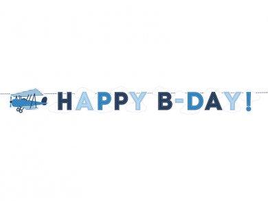 Μικρό Αεροπλανάκι Γιρλάντα Happy Birthday